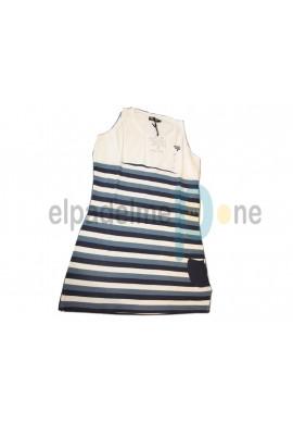 Vestido Padel Lobb OLA blanco y azul