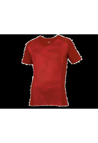 Camiseta Wilson SEASONAL CREW TERRA roja