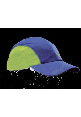 Gorra Bullpadel BP 14 azul y amarillo fluorescente