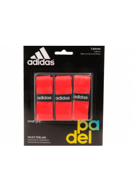 Blister Overgrips Adidas 3 Unidades rojo