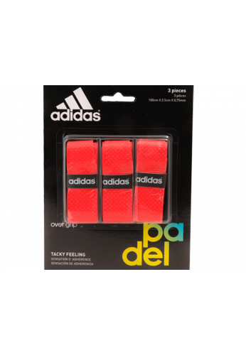 Blister Overgrips Adidas 3 Unidades rojo