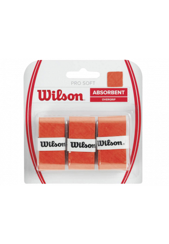 Overgrips Wilson PRO SOFT naranja Blister 3 ud