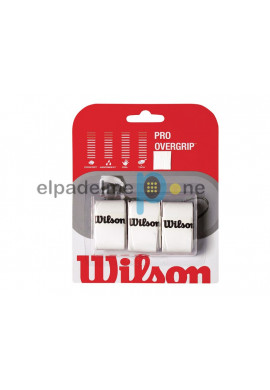 Blister Overgrips Wilson PRO blanco 3 Uds.