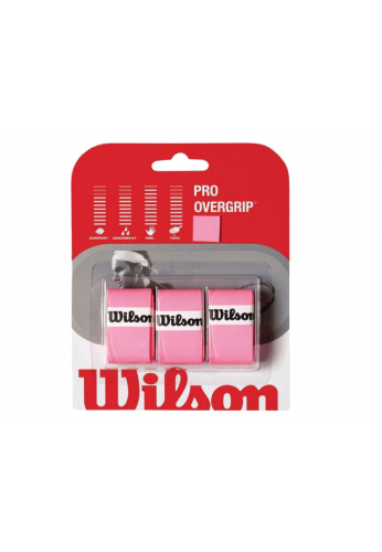 Blister Overgrips Wilson PRO rosa 3 ud