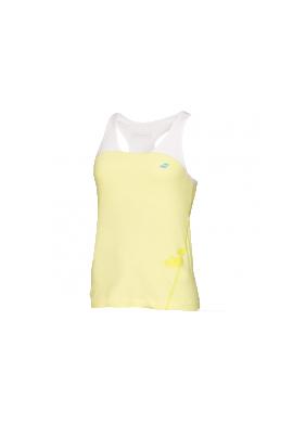 Camiseta Babolat TANK RACEBACK PERF amarilla y blanca