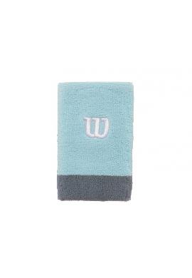 Muñequera Wilson EXTRA WIDE 2 Uds. celeste y azul