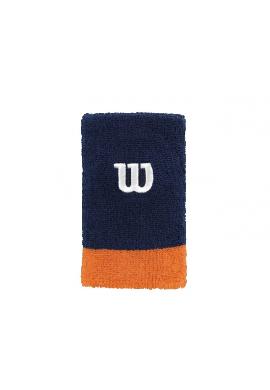 Muñequera Wilson EXTRA WIDE 2 Uds. azul y naranja