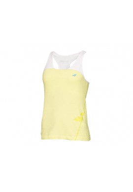 Camiseta Babolat RACERBACK PERFORMANCE amarilla y blanca