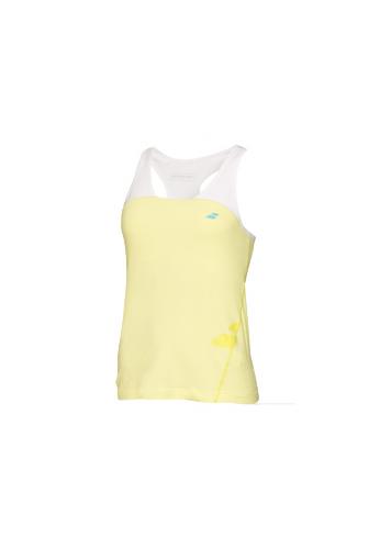 Camiseta Babolat RACEBACK PERFORMANCE amarilla y blanca