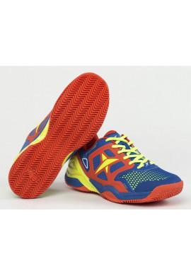Zapatillas Drop Shot CONQUEROR JMD azul, naranja y amarilla