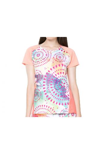 Camiseta Desigual TS_FR T-S SHORT SLEEVE naranja