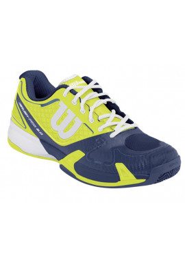 Zapatillas Wilson RUSH PRO 2.0 CLAY COURT solar lime/pacific teal