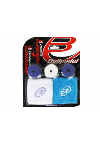 Pack Bullpadel 2 Muñequeras Y 3 Overgrip