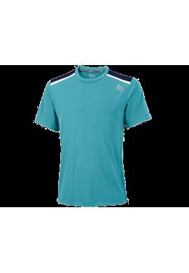 Camiseta Wilson FW JACQUARD CREW NECK cool mint wil