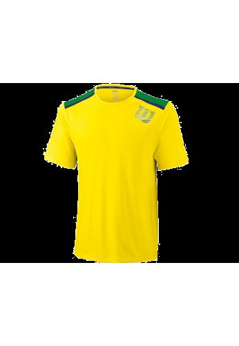 Camiseta Wilson SP LINEAR BLUR PRINT CREW union gold