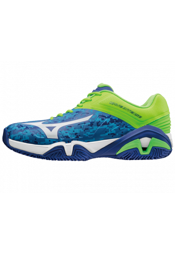 Zapatillas Mizuno WAVE INTENSE TOUR 2 azul,blanco y verde