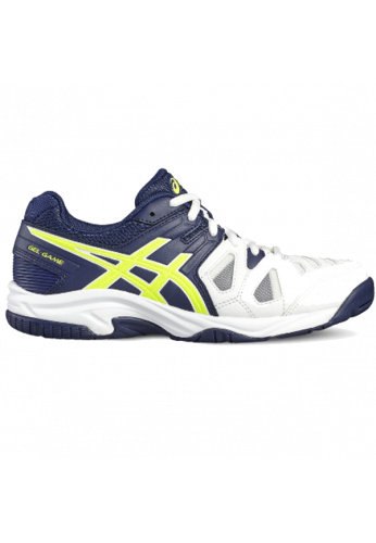 Zapatillas Asics GEL-GAME 5 GS white/indigo blue/safety yellow