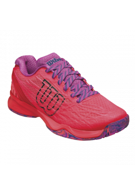 Zapatillas Wilson KAOS CLAY COURT W fiery coral/fiery red/rose violet
