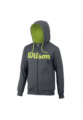 Sudadera Wilson M SCRIPT COTTON FZ HOODY dark grey/green