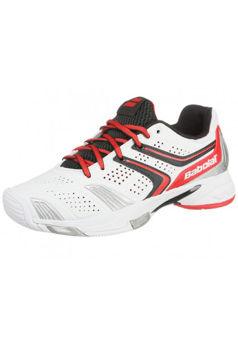 Zapatillas Babolat DRIVE 3 JUNIOR blanco y rosa