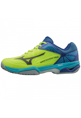 Zapatillas Mizuno WAVE EXCEED TOUR 2 CC neon yellow/black/surf the web