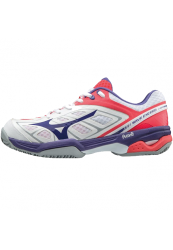 Zapatillas Mizuno WAVE EXCEED CC white/liberty/diva pink