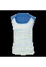 Camiseta Wilson W STAR STRIATED TANK white/regatta