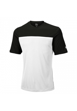 Camiseta Wilson M TEAM CREW black/white