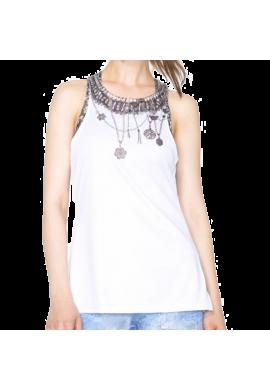Camiseta Desigual TS_A TANK DRESS Y white