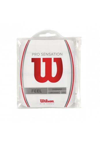 Pack Overgrips Wilson PRO SENSATION FEEL x12 blancos