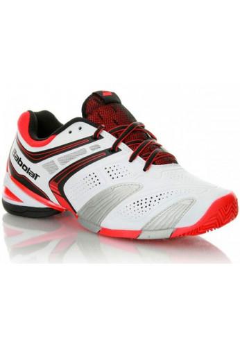 Zapatillas Babolat V-PRO 2 CLAY blanca y roja