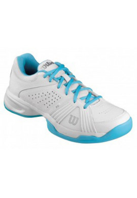 Zapatillas Wilson SWING blanca y celeste