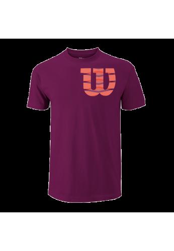 Camiseta Wilson M SHOULDER W COTTON TEE purple/fiesta