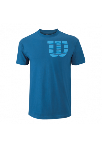 Camiseta Wilson M SHOULDER W COTTON TEE deep water/blith