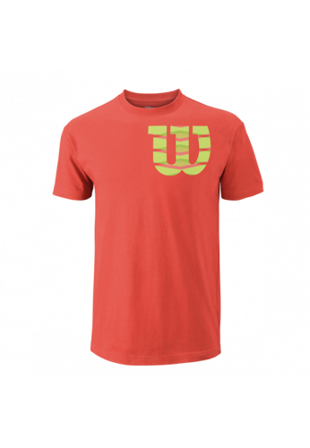 Camiseta Wilson M SHOULDER W COTTON TEE hot coral/green