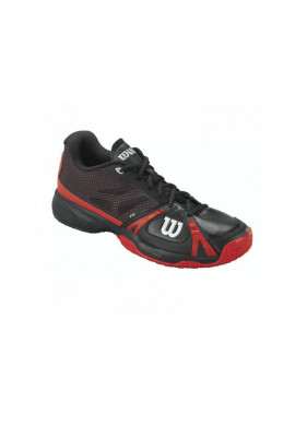 Zapatillas Wilson RUSH OMNI negra y roja