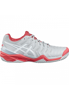 Zapatillas Asics GEL-RESOLUTION 7 CLAY glacier grey/white/ rouge red