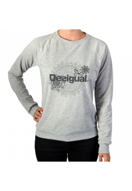 Sudadera Desigual SWEAT_CREW NECK ESSENTIAL gris