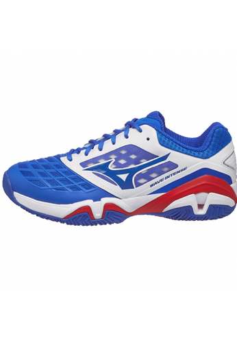 Zapatillas Mizuno WAVE INTENSE TOUR 3 AC white/strong blue/chinese red
