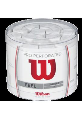 Tambor 60 Pro overgrips Wilson Perforado Blanco