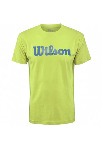 Camiseta Wilson SCRITP COTTON TEE green glow