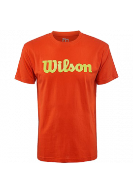 Camiseta Wilson SCRITP COTTON TEE burn orange