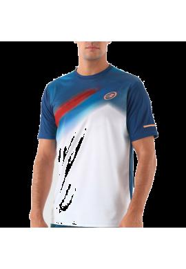 Camiseta Bullpadel ALGAFE azul y blanco