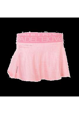 Falda Bullpadel AUFRA rosa pastel