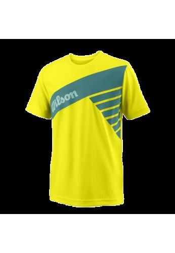 Camiseta Wilson B SLANT TECH TEE amarilla
