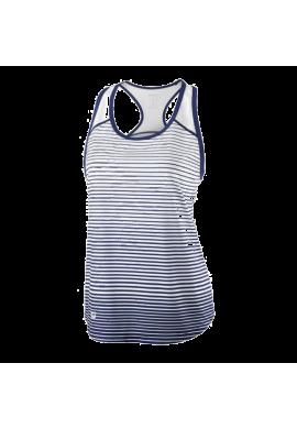 Camiseta Wilson W TEAM STRIPED TANK blue depth/white
