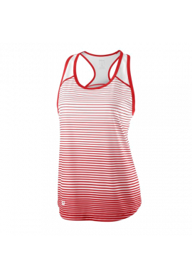 Camiseta Wilson W TEAM STRIPED TANK red/white