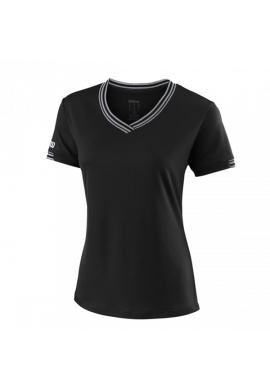 Camiseta Wilson W TEAM V-NECK black