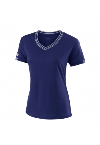 Camiseta Wilson W TEAM V-NECK blue