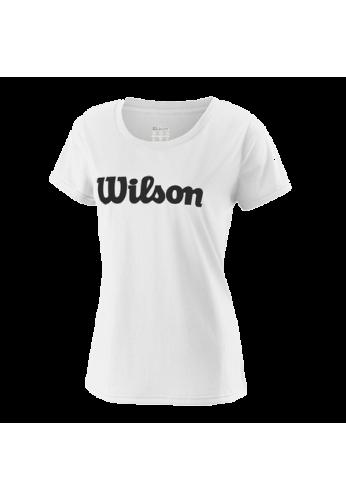 Camiseta Wilson W UWII SCRIPT TECH TEE white